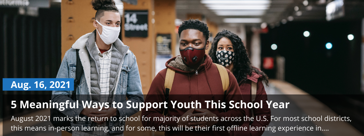 youth walking to school, blog on how to support them