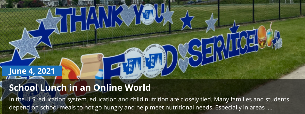 food service thank you sign, blog on school meals during covid